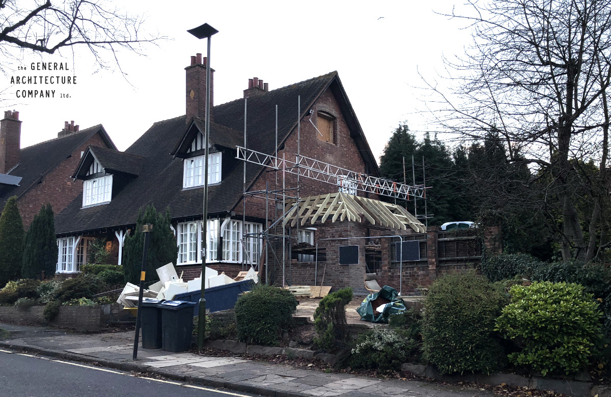 Latest Site Photograph From The Heart Of The Bournville Conservation Area