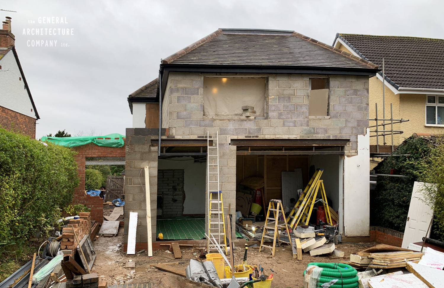 On Site In Not So Sunny Stirchley…!